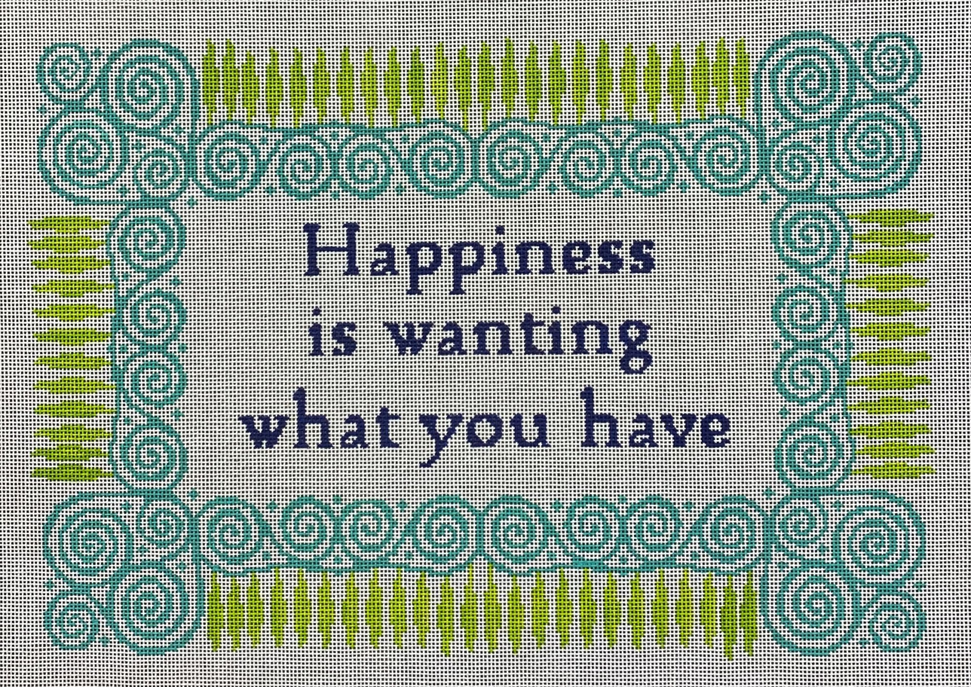 happiness is...what you have