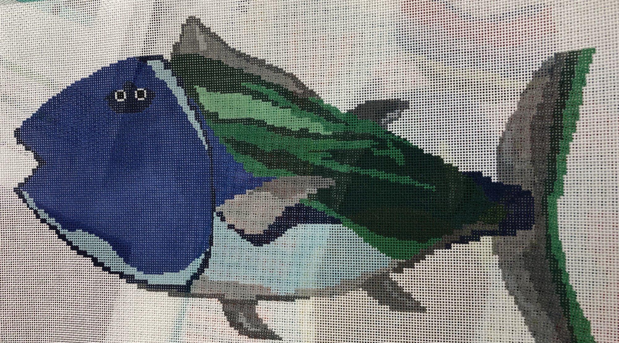 blue face fish