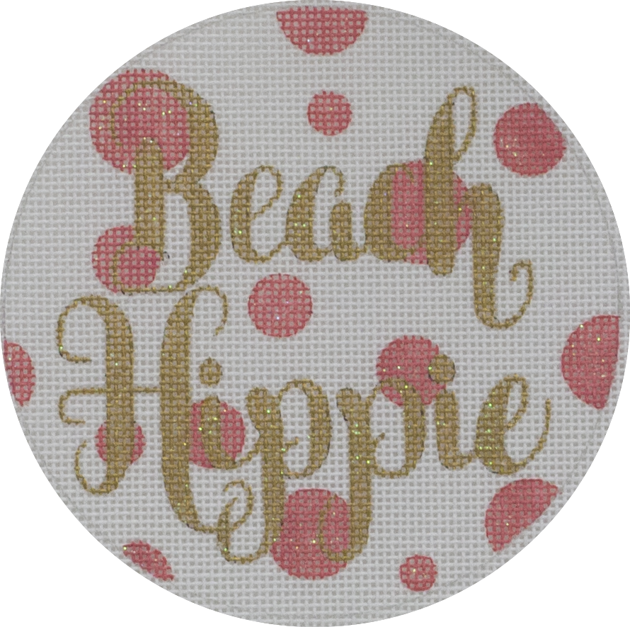 beach hippie round