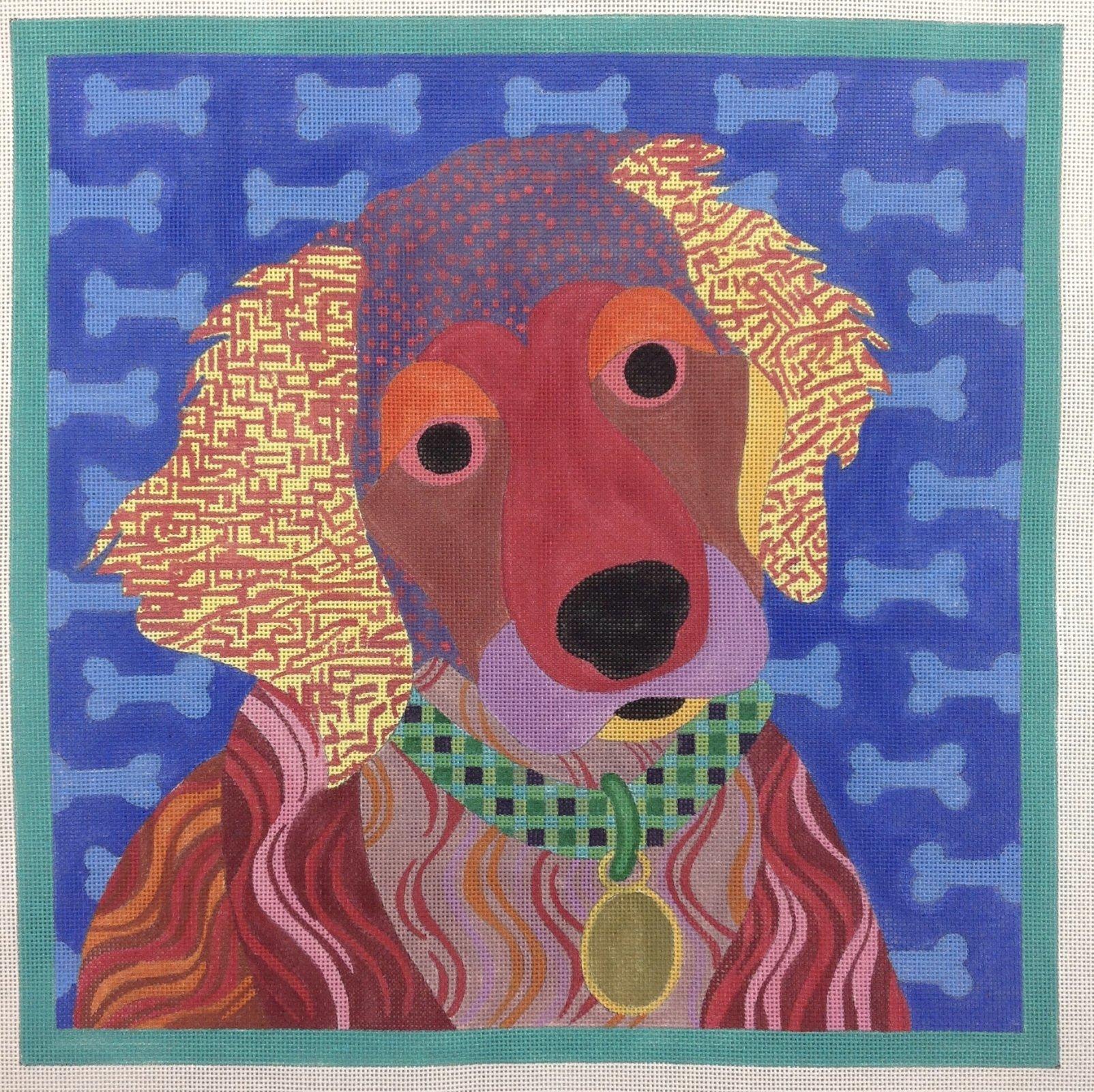 patchwork brown dog