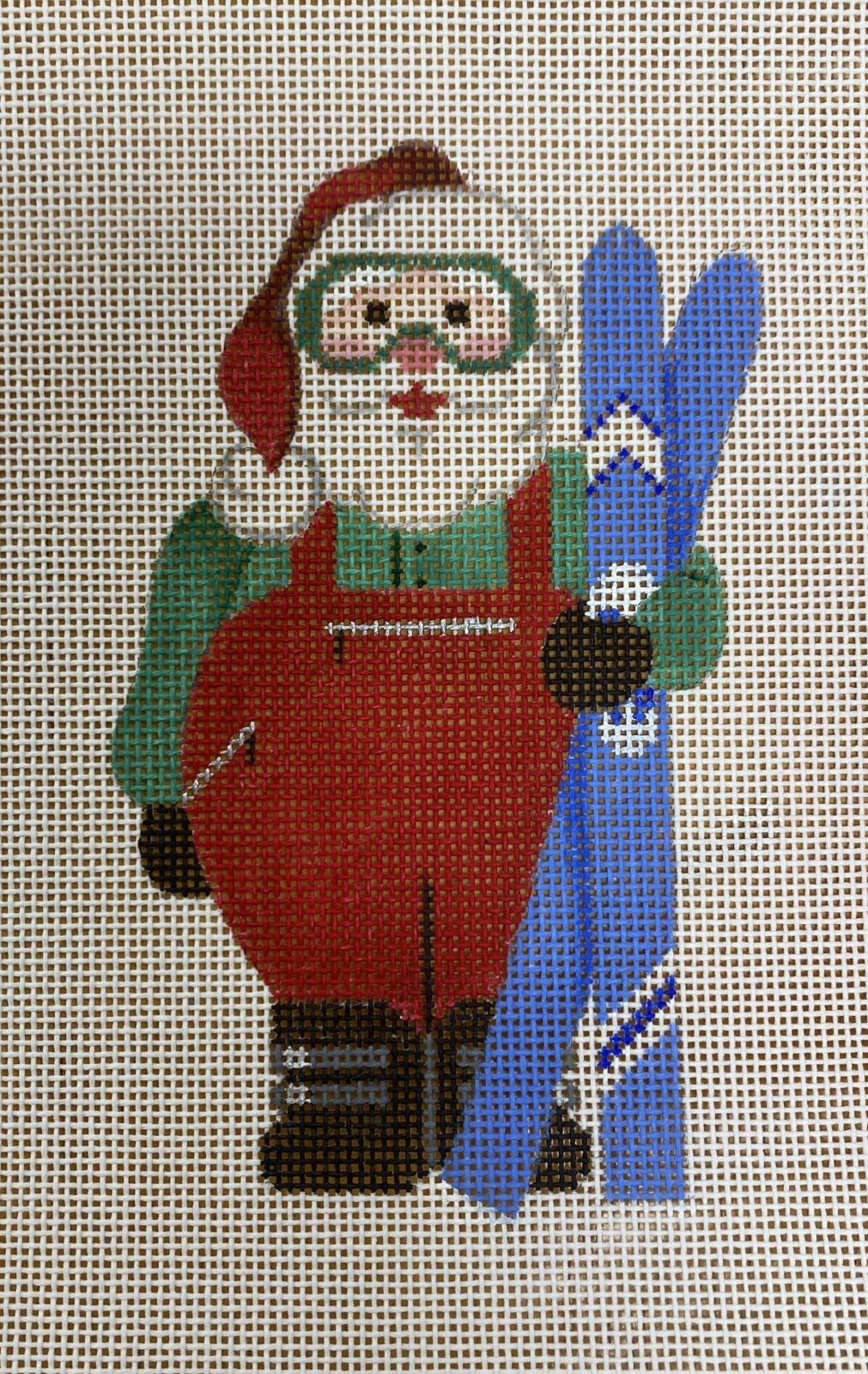 sports santa, snow skiing