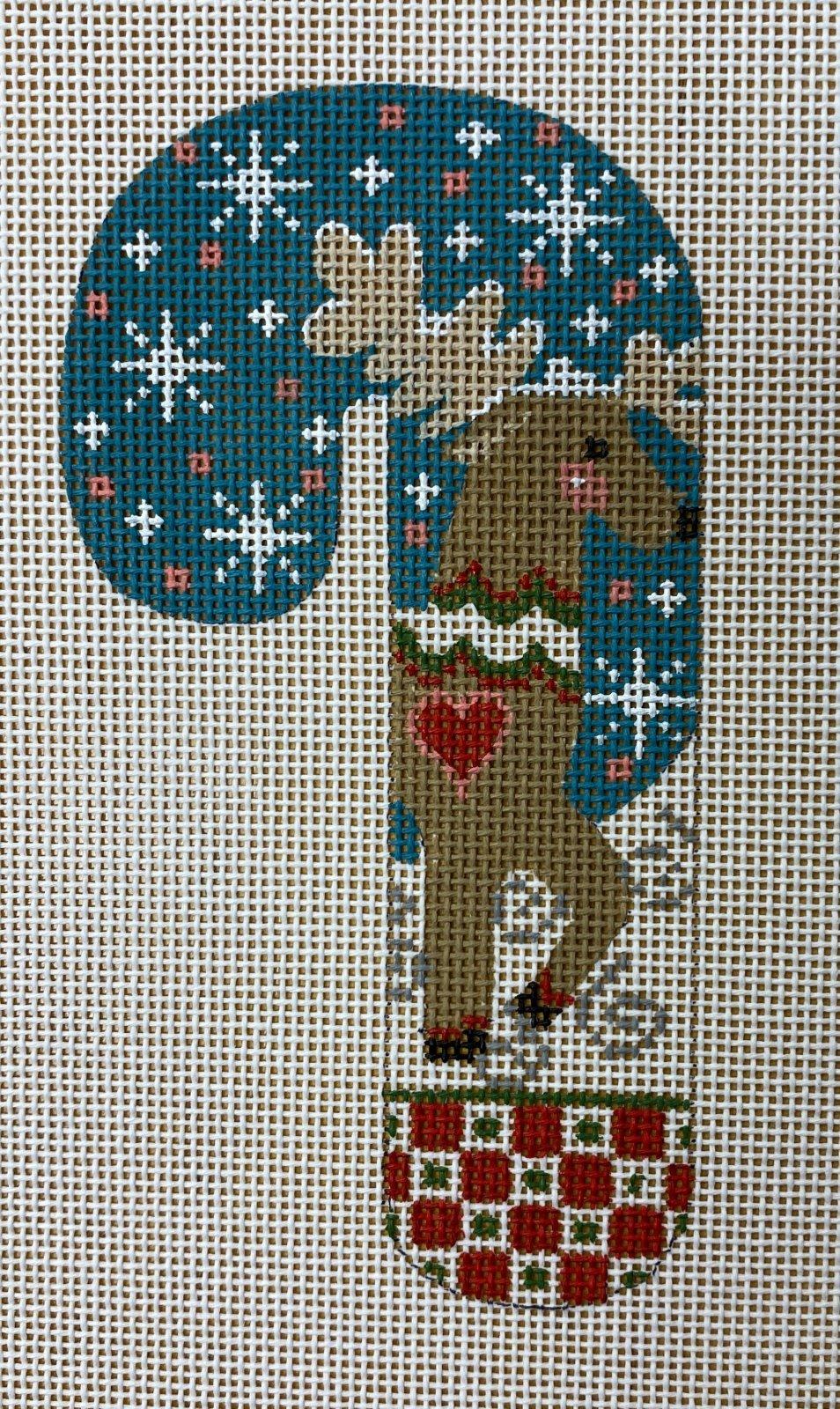 reindeer w heart candy cane
