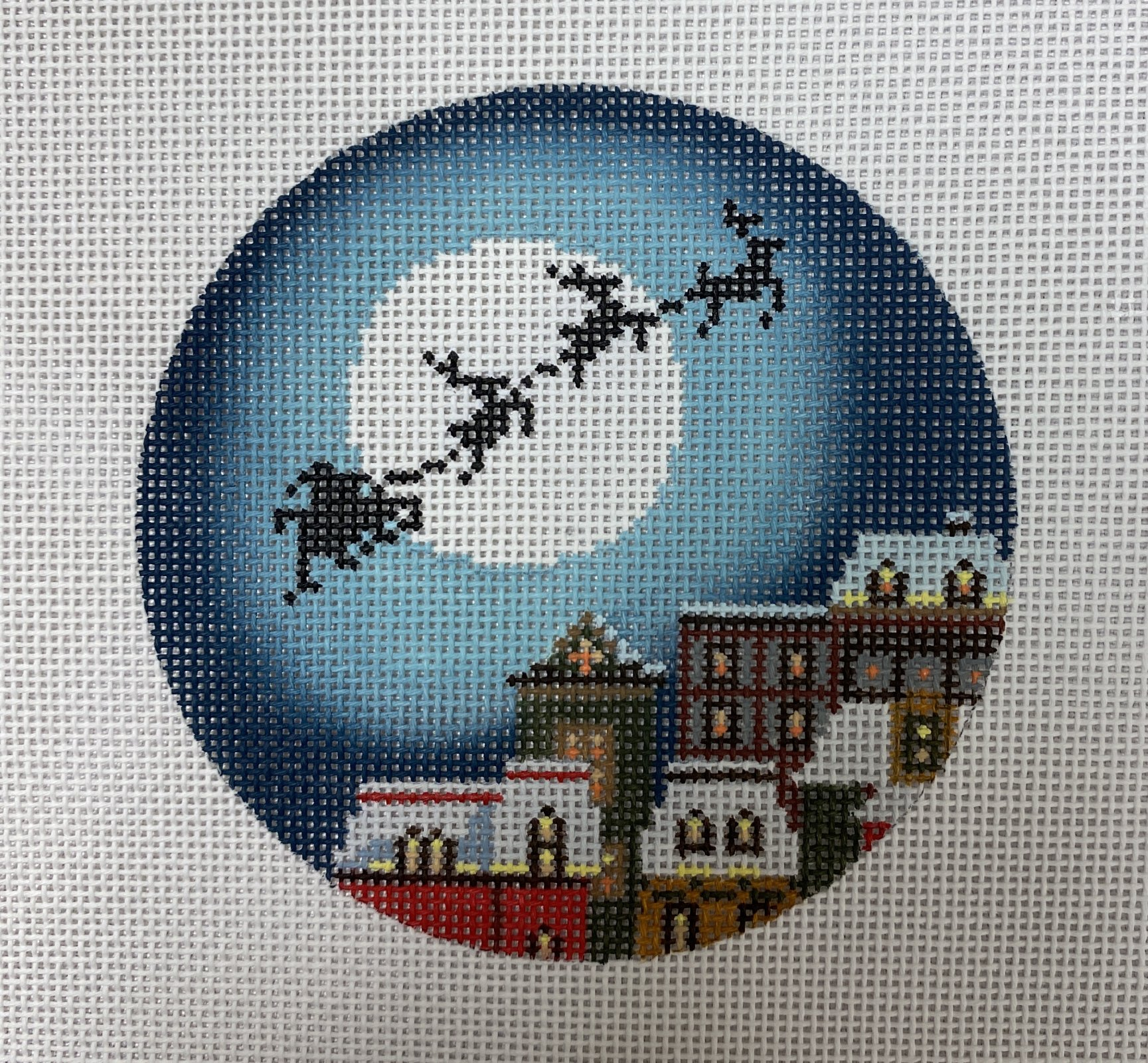 christmas eve town ornament