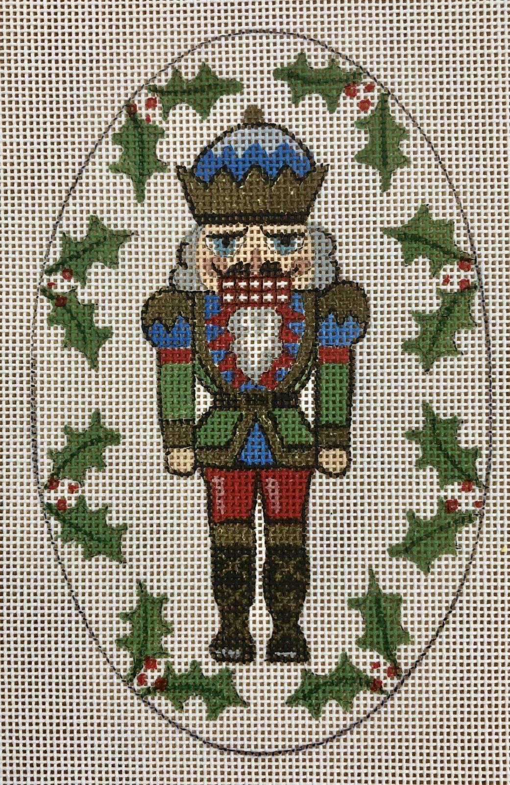 nutcracker ornament, green & blue