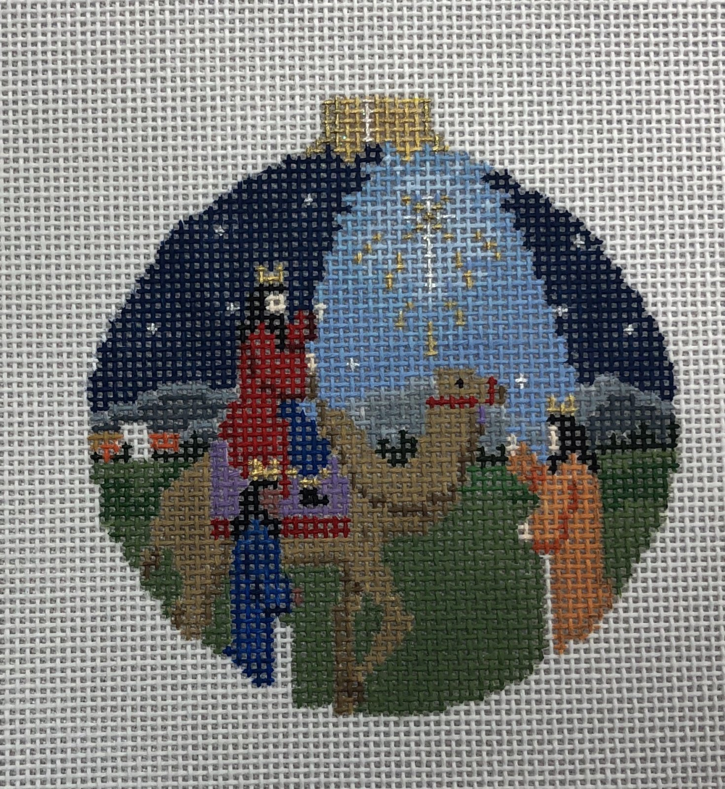 nativity three kings round