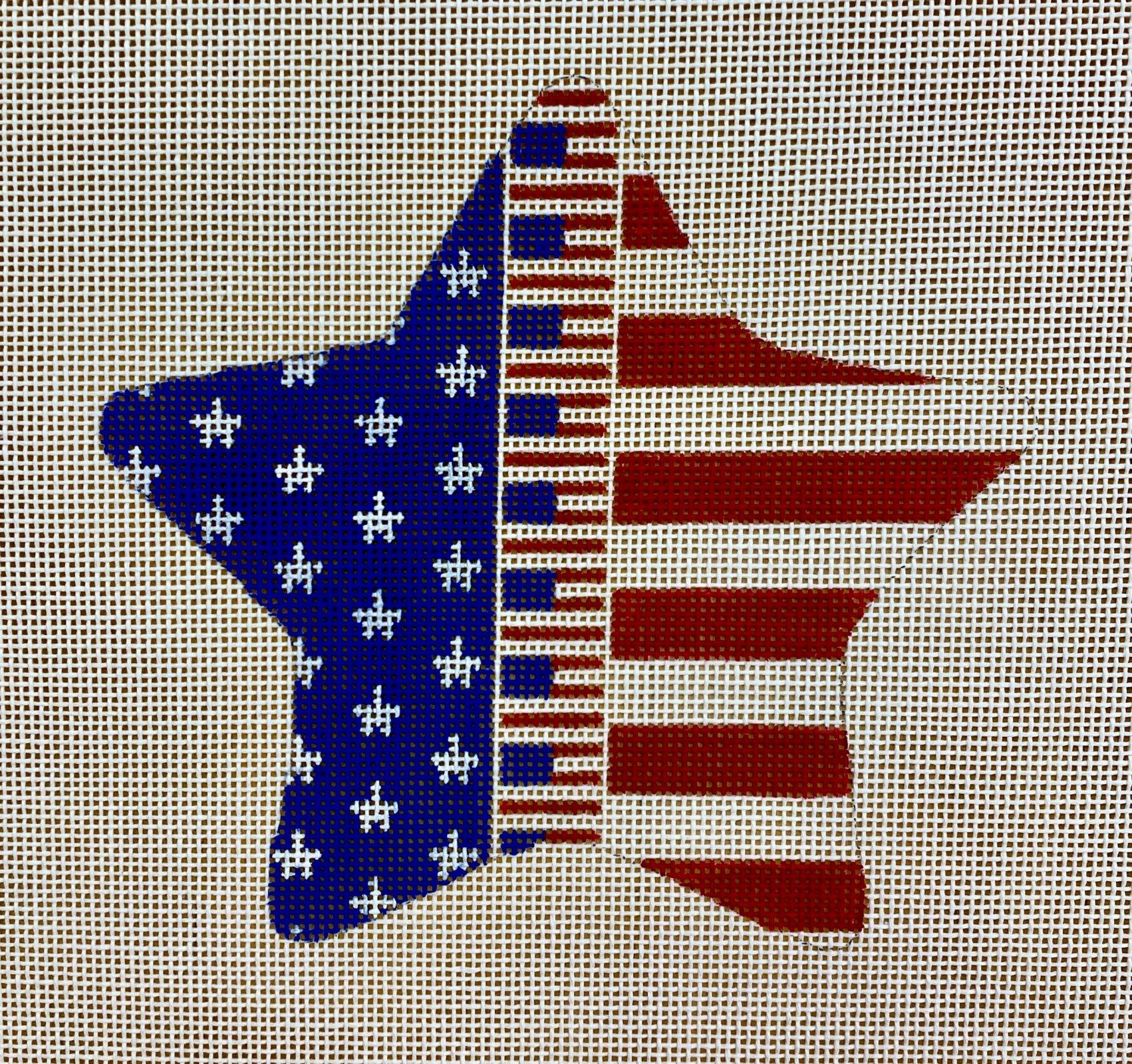 patriotic star, flags