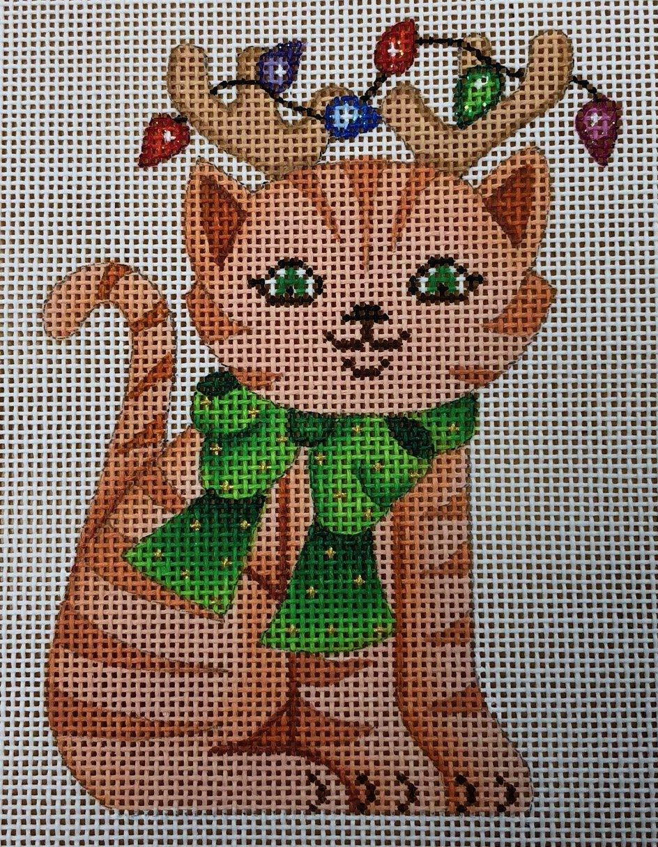 cat w/ lights & antlers