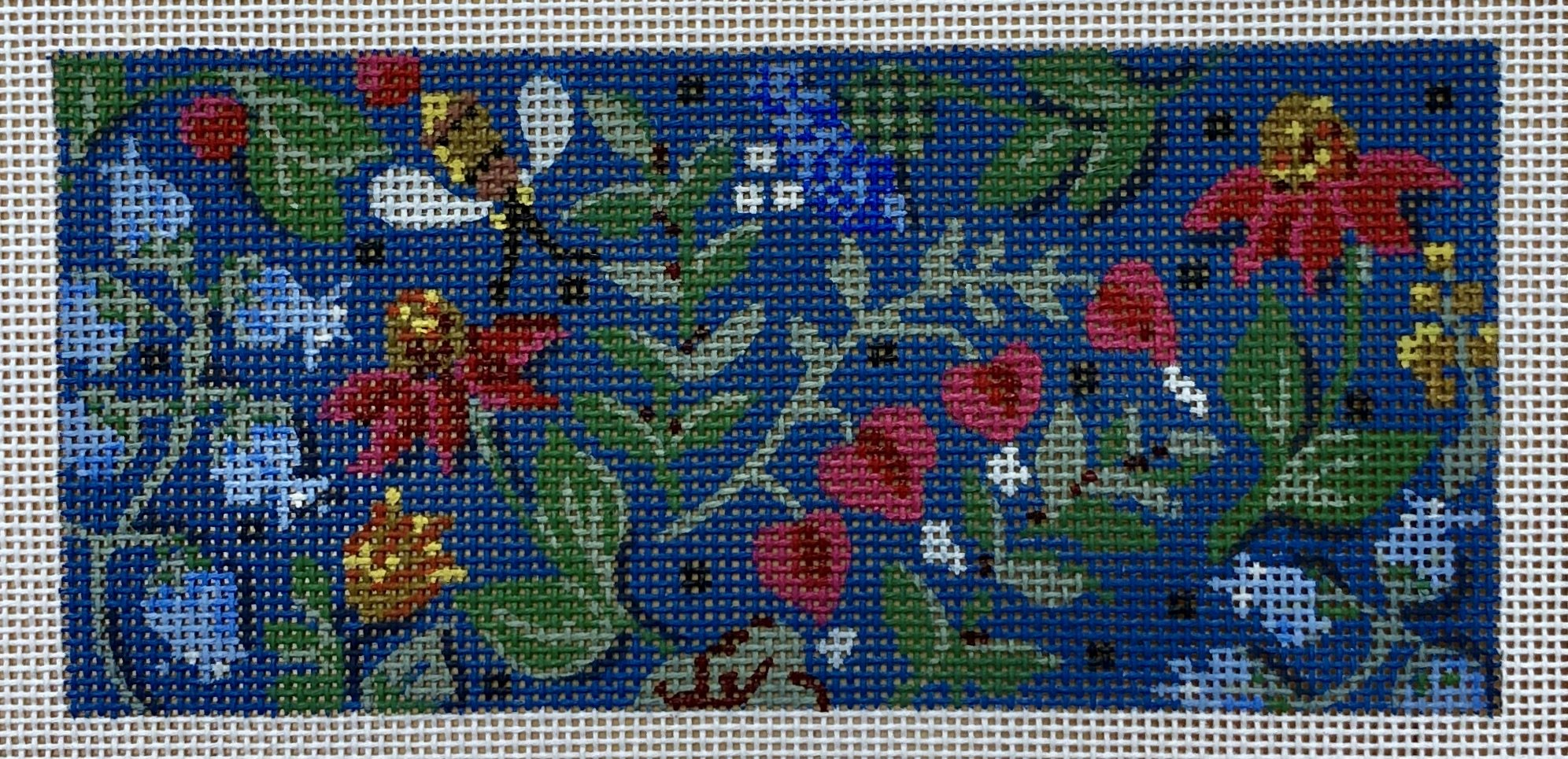 folk art floral, wallet insert