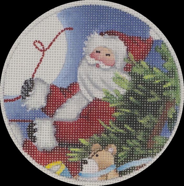 santa sleigh ornament