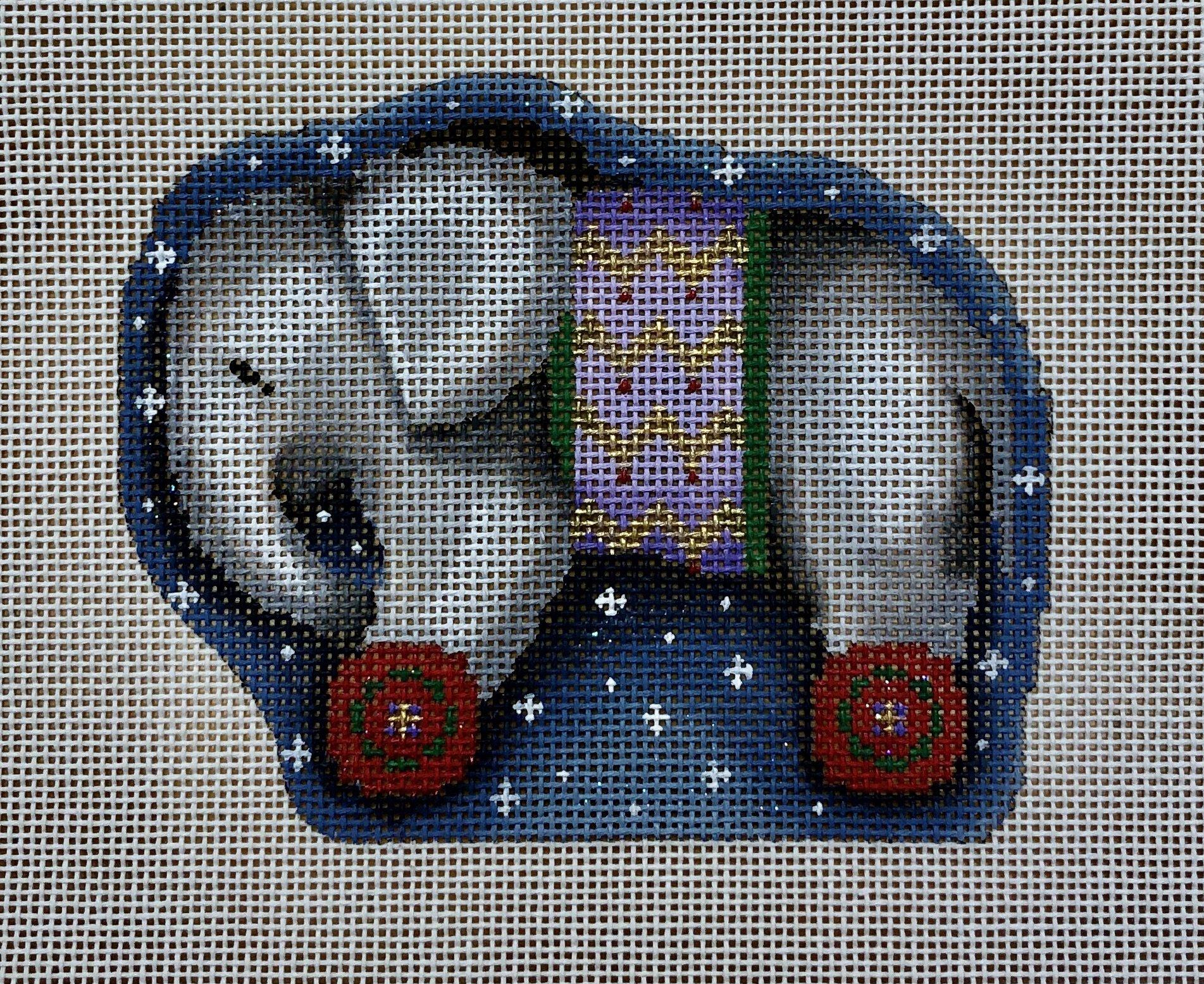 gray elephant wheels ornament