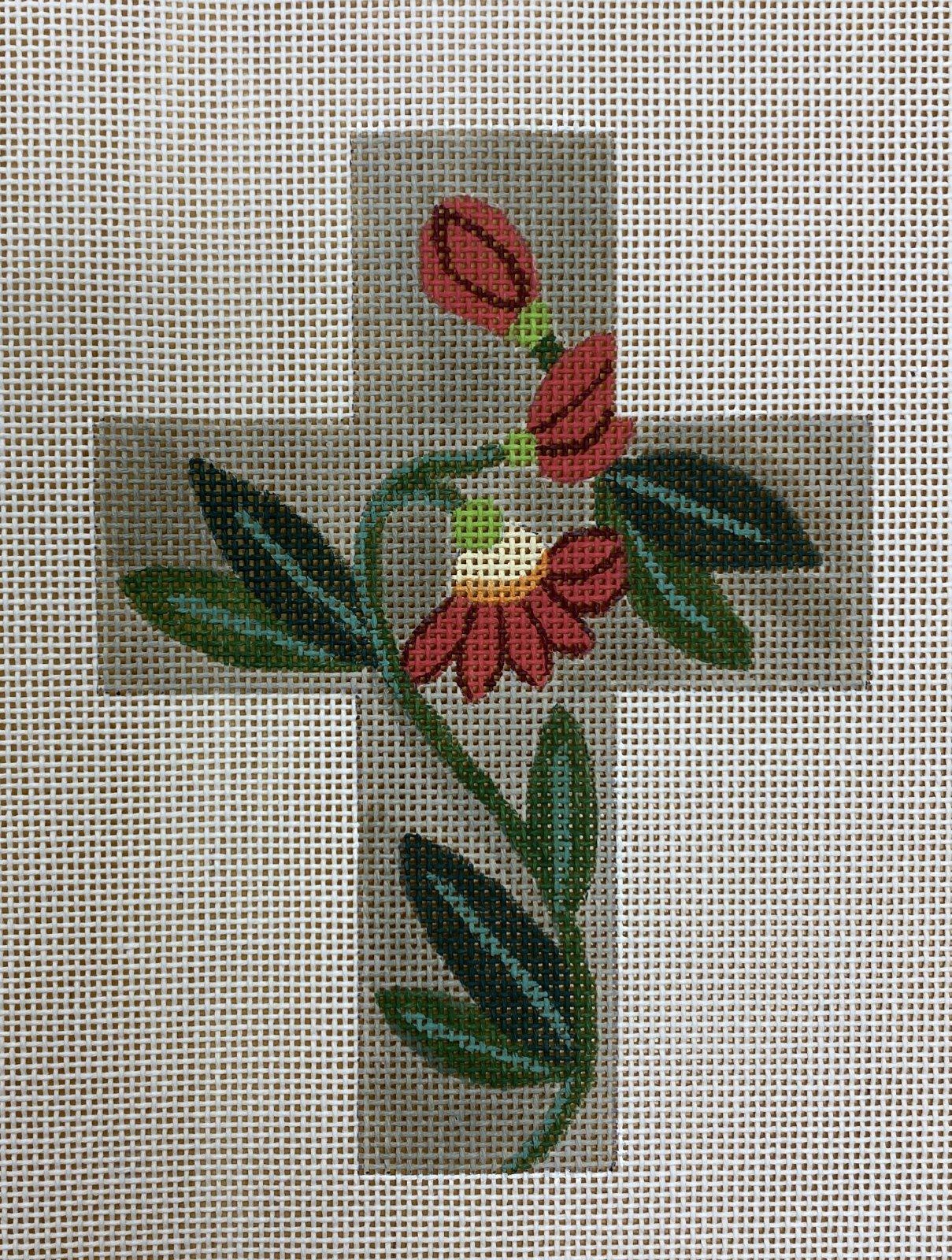 cross, red flower