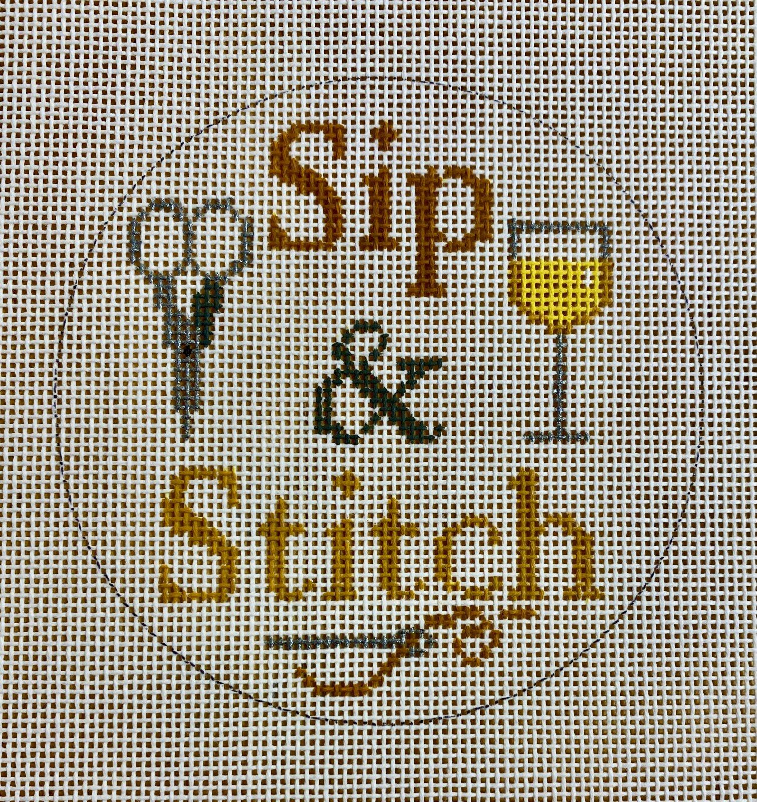 sip & stitch, white