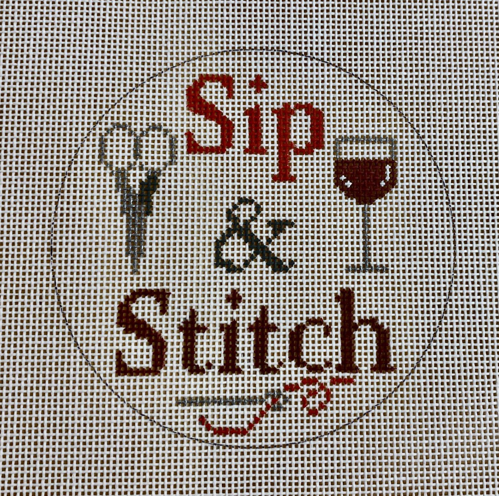 sip & stitch, red