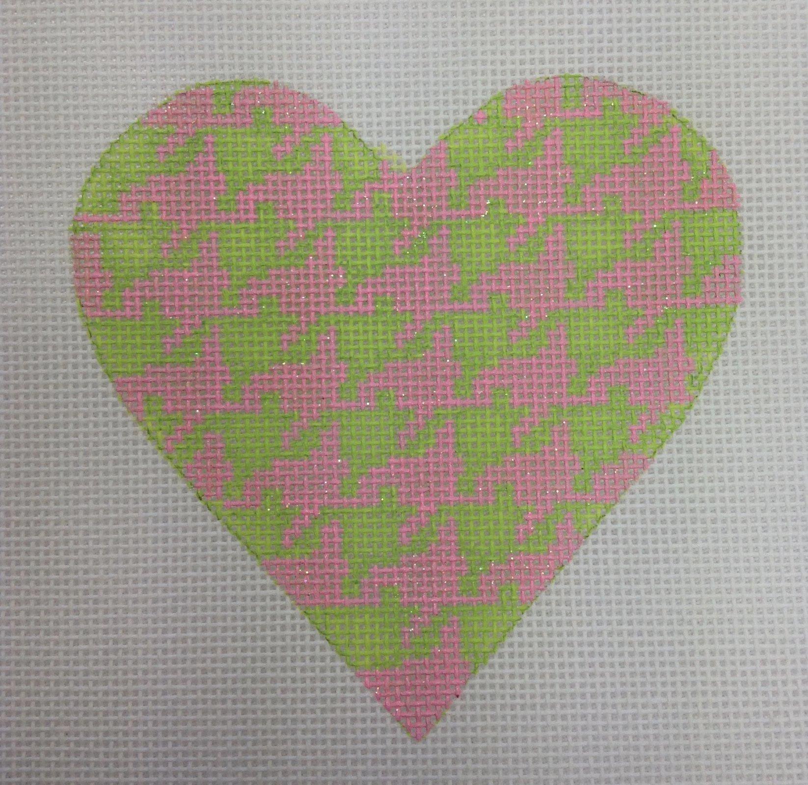 pink & green heart