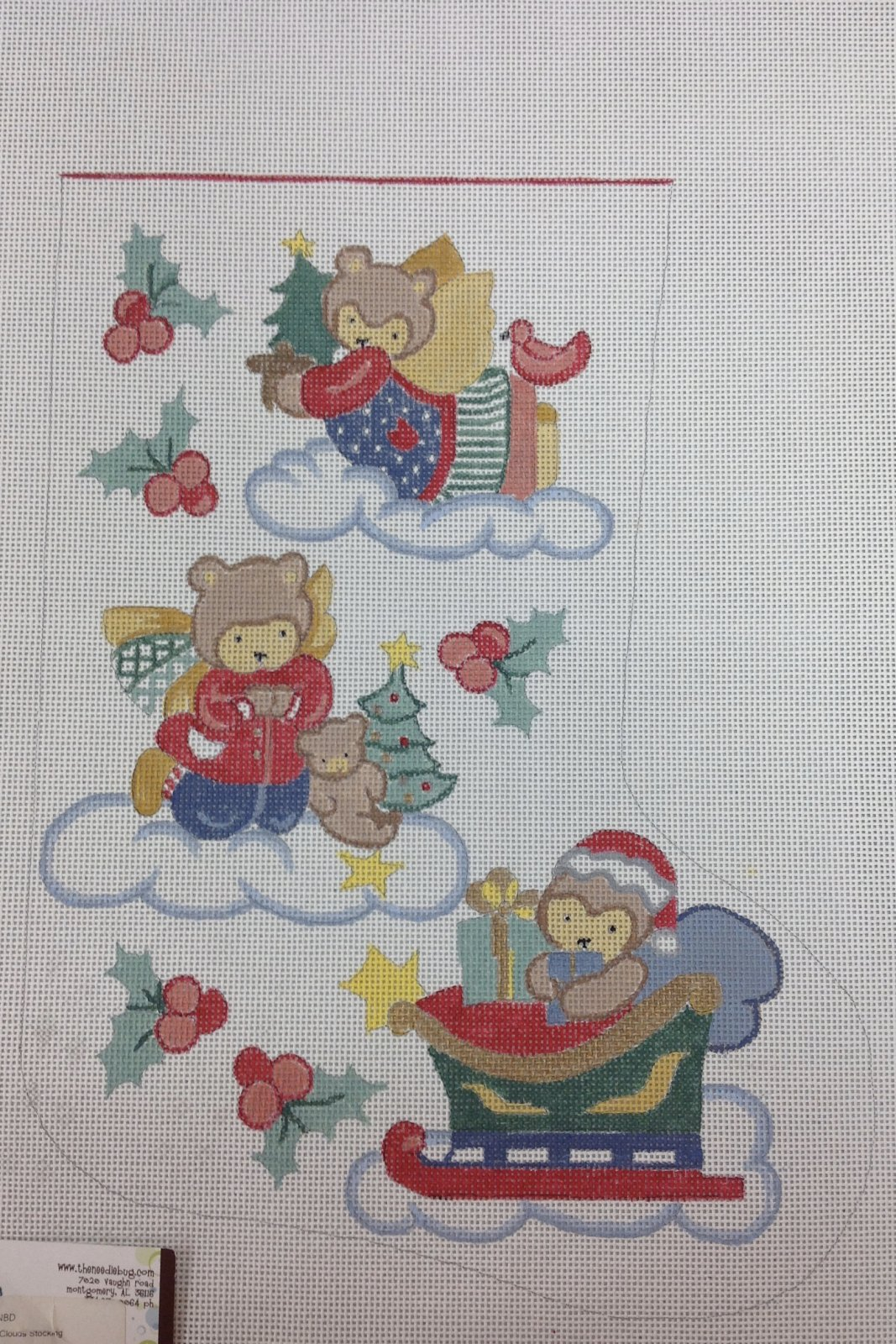 bears on clouds stocking***