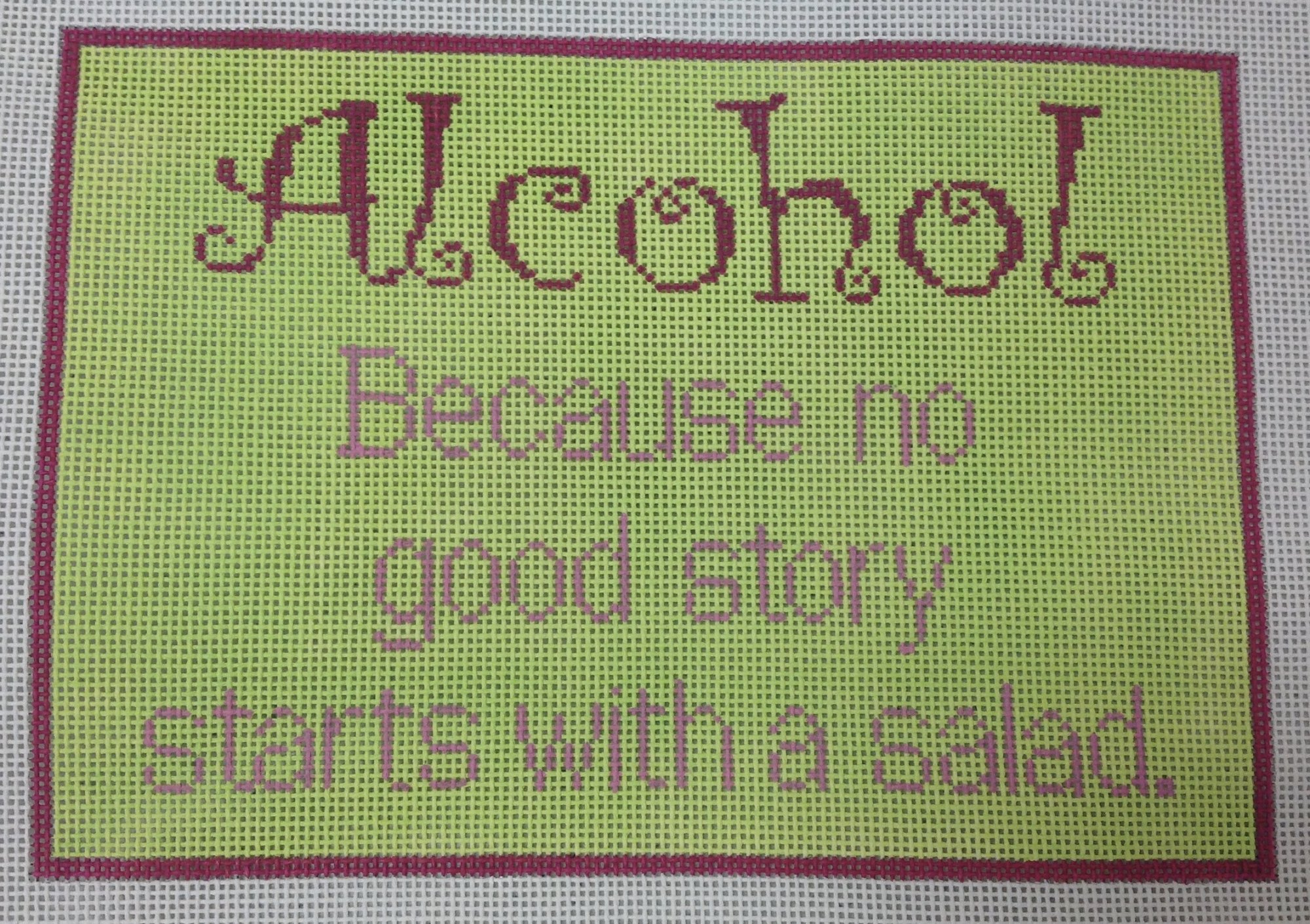 alcohol...salad