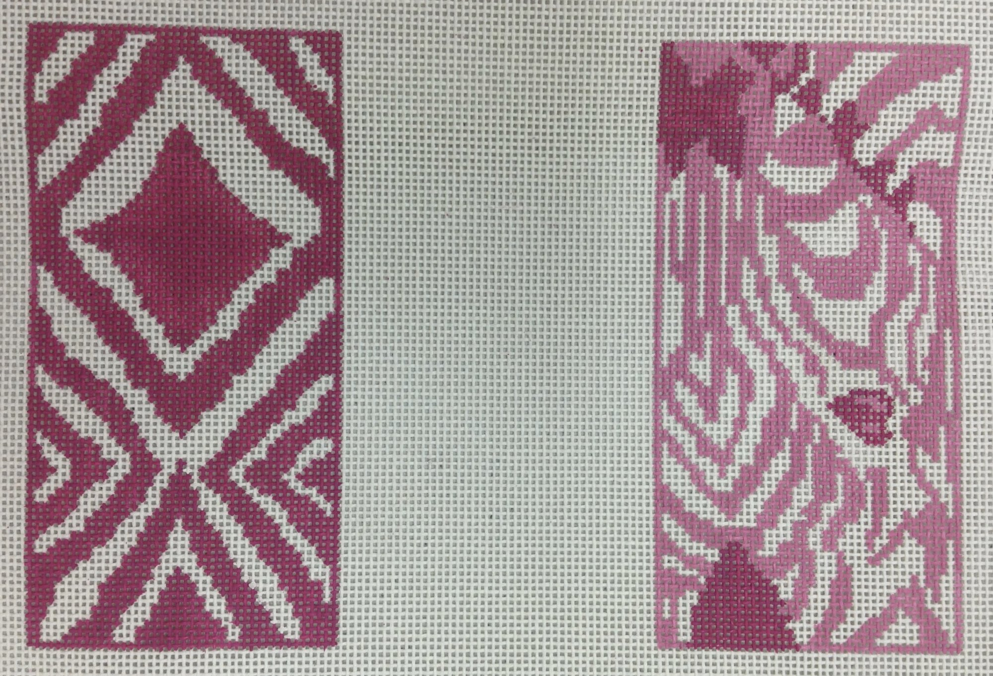 pink zebra double eyeglass case