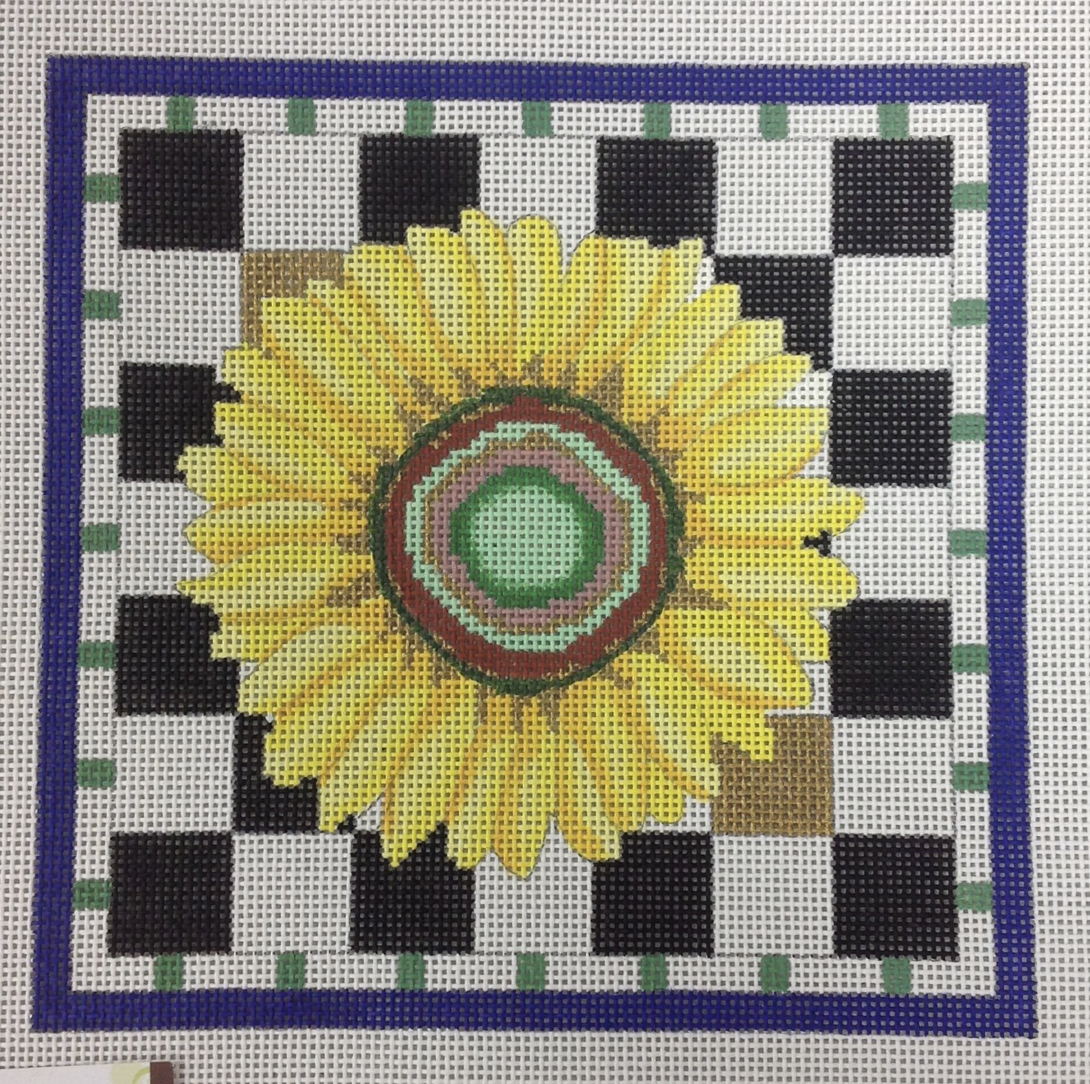 small sunflower w stitch guide