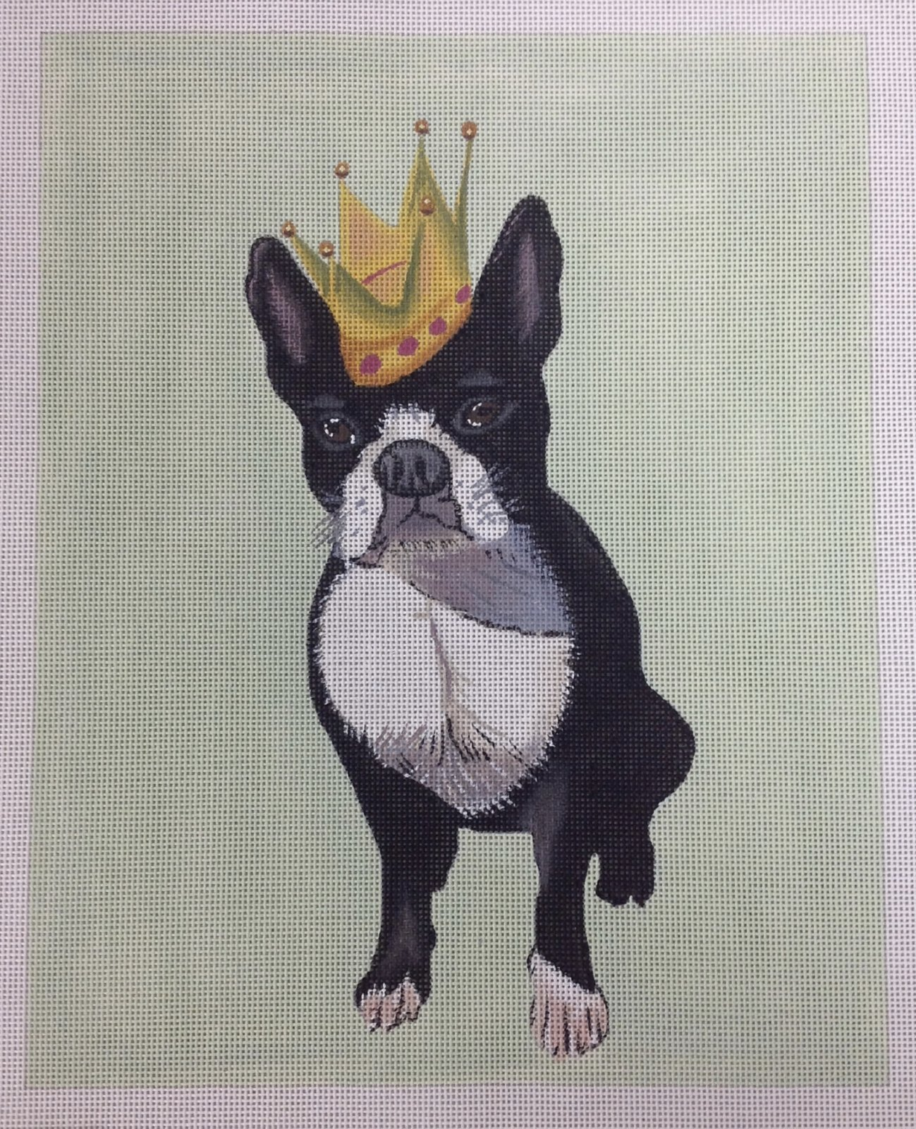 french bulldog w/ crown
