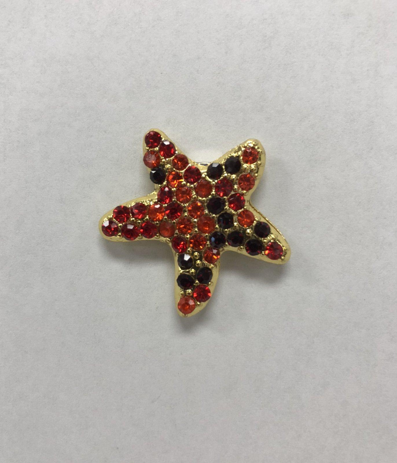 rhinestone starfish magnet