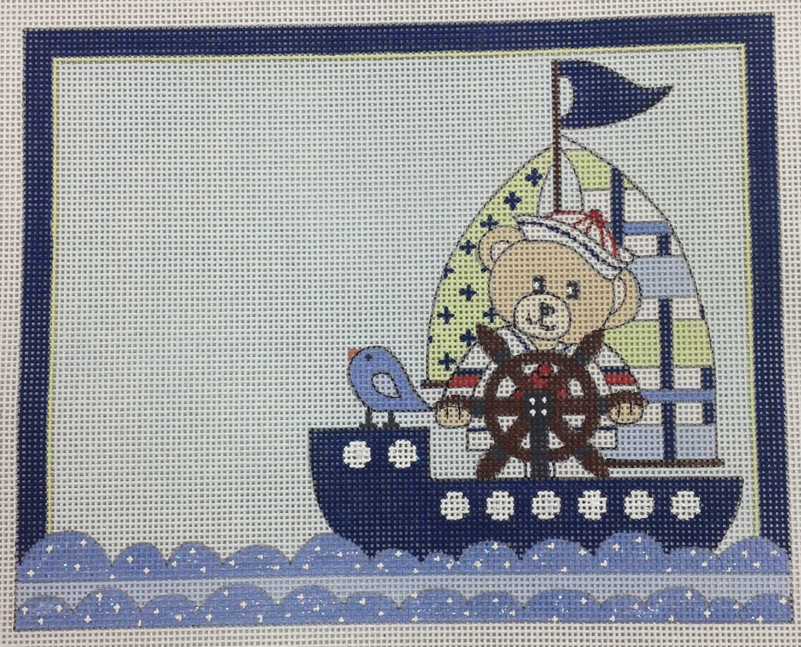 boy sailor birth announcement*