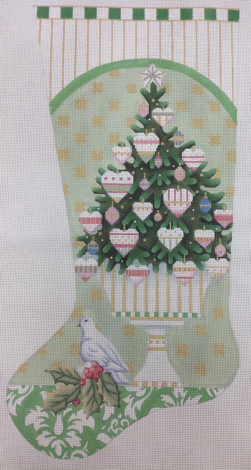 heart tree stocking