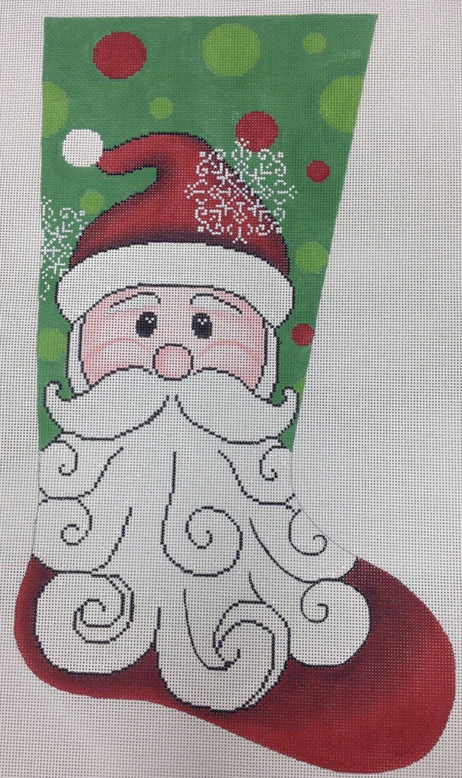 happy santa stocking