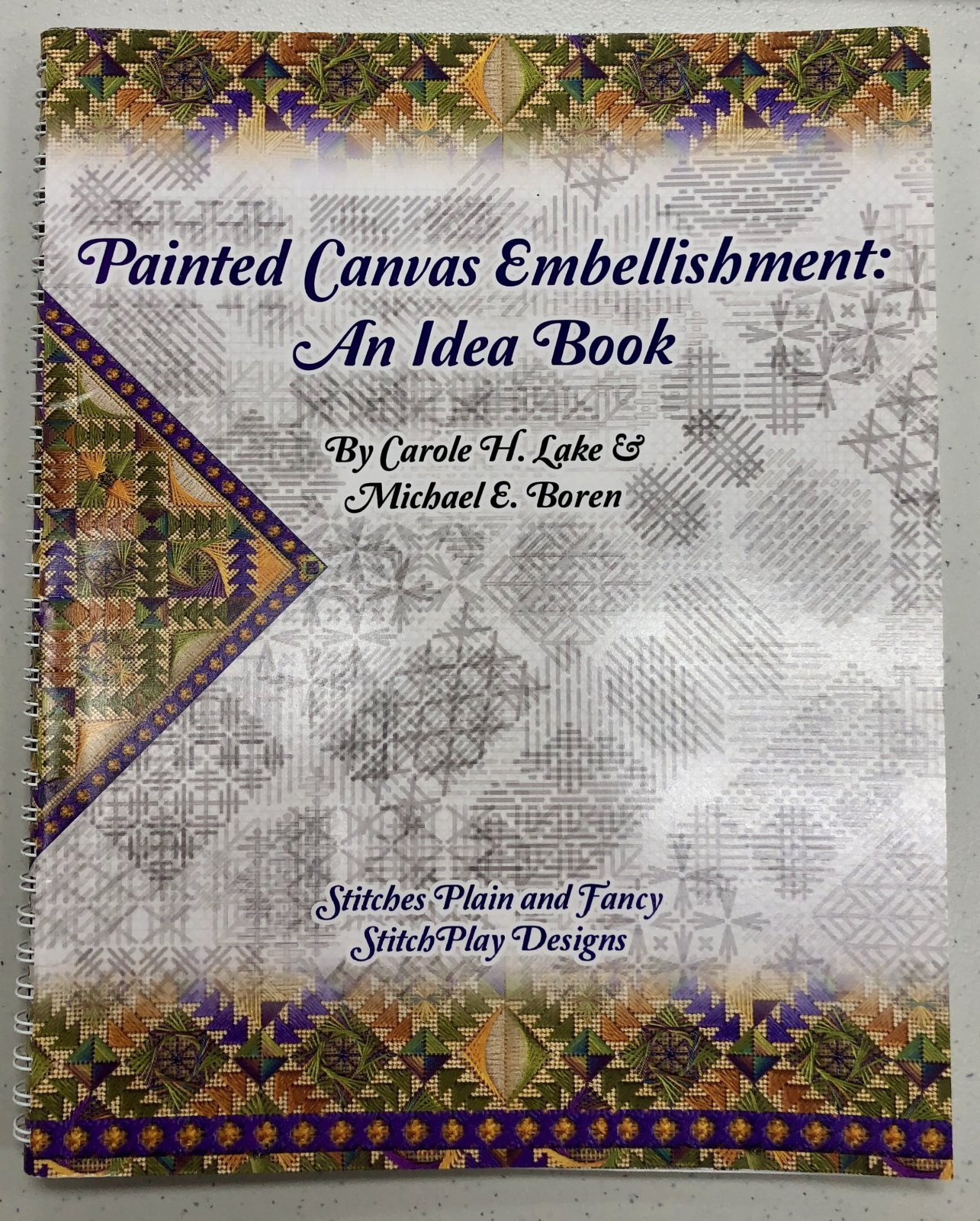 painted canvas embellishment:  an idea book