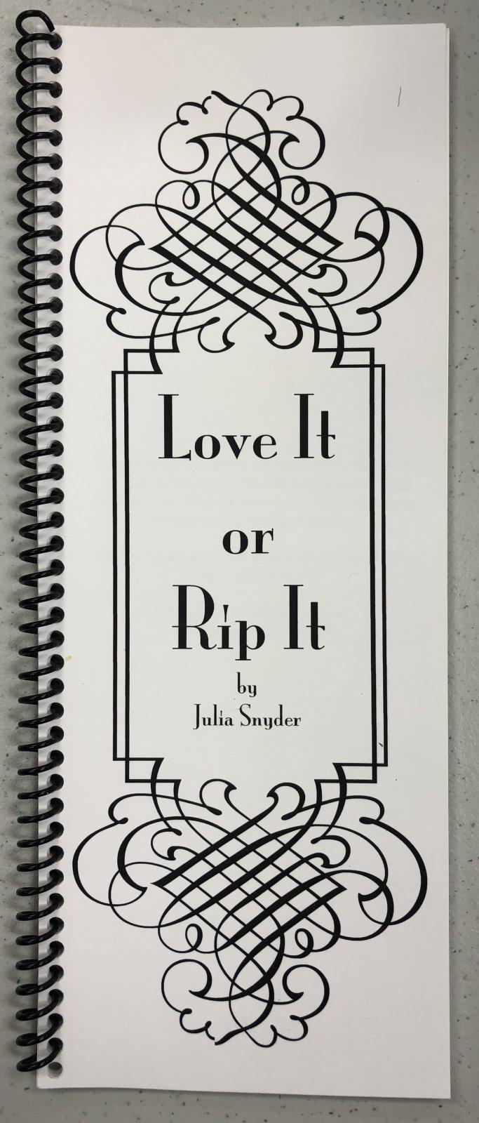 love it or rip it!