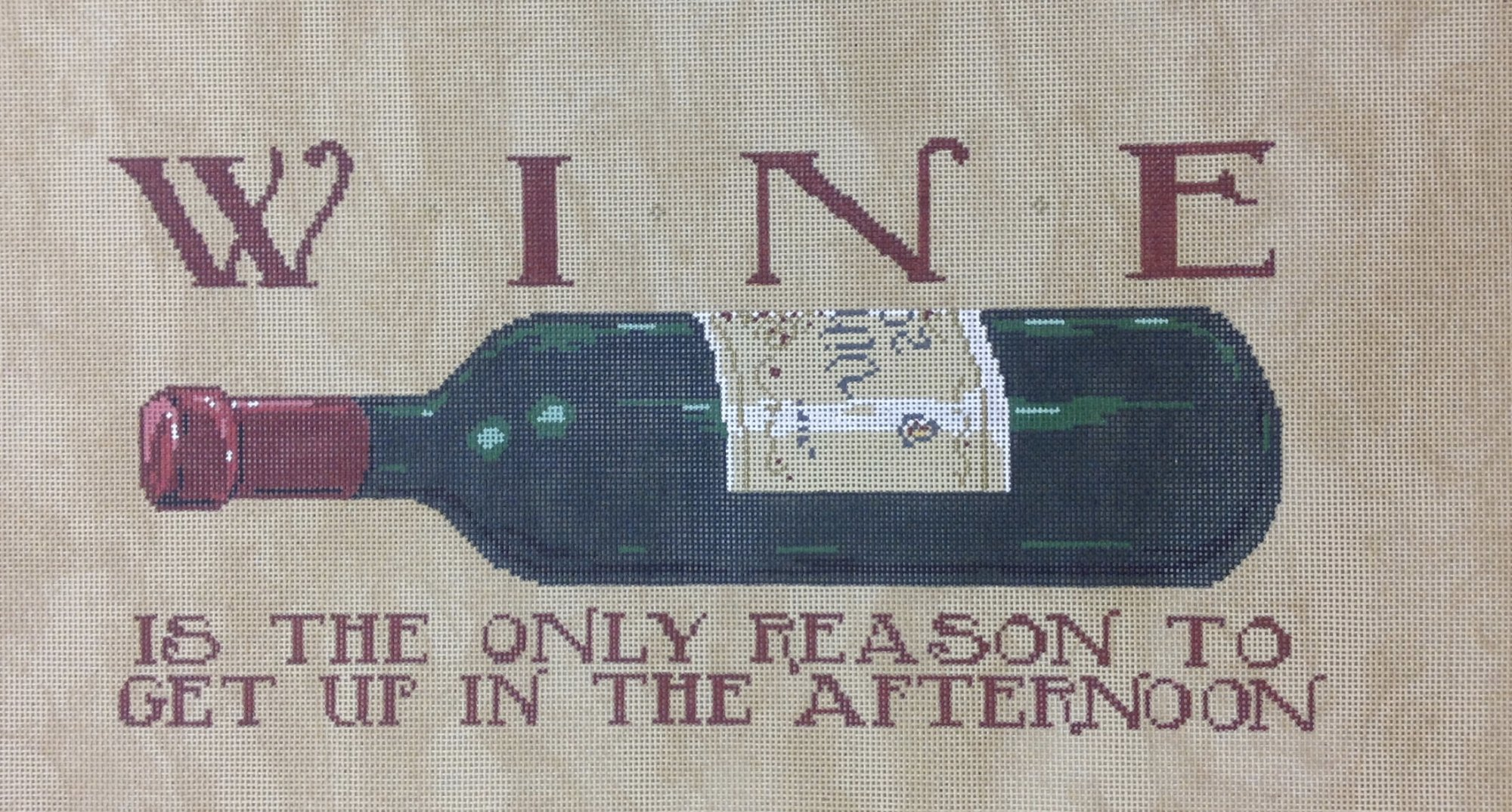 wine is the only...