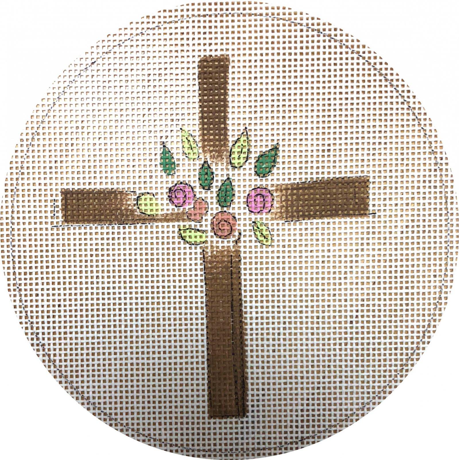 cross w flowers