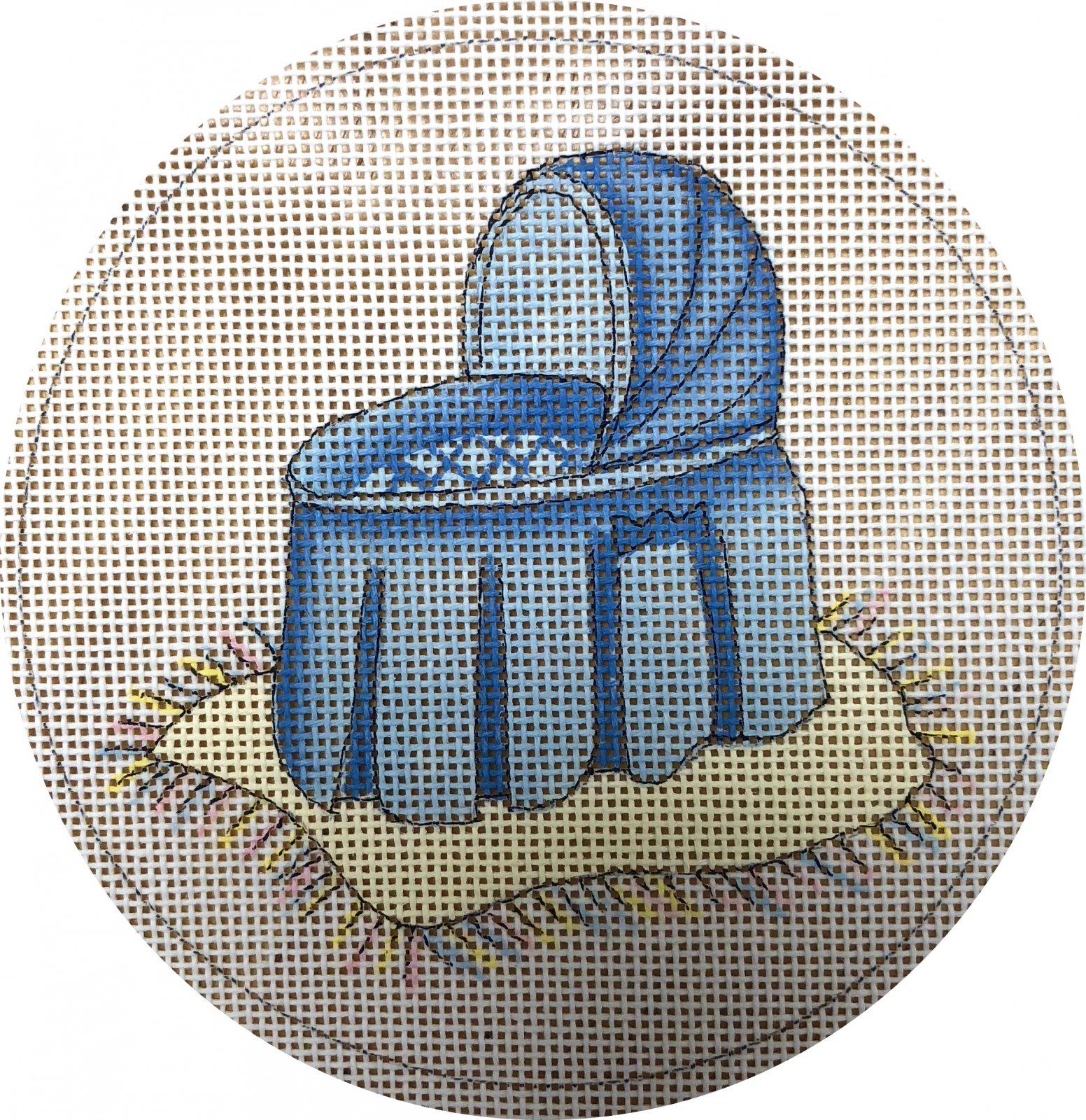 blue bassinet
