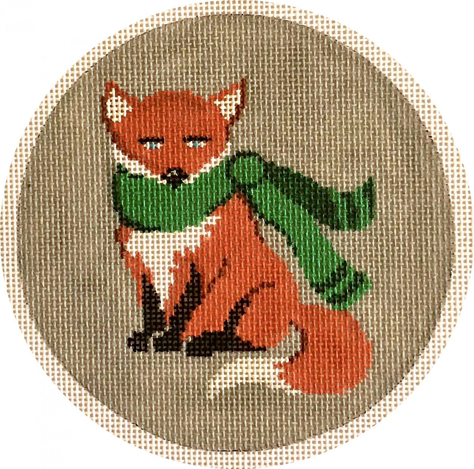 fox w green scarf