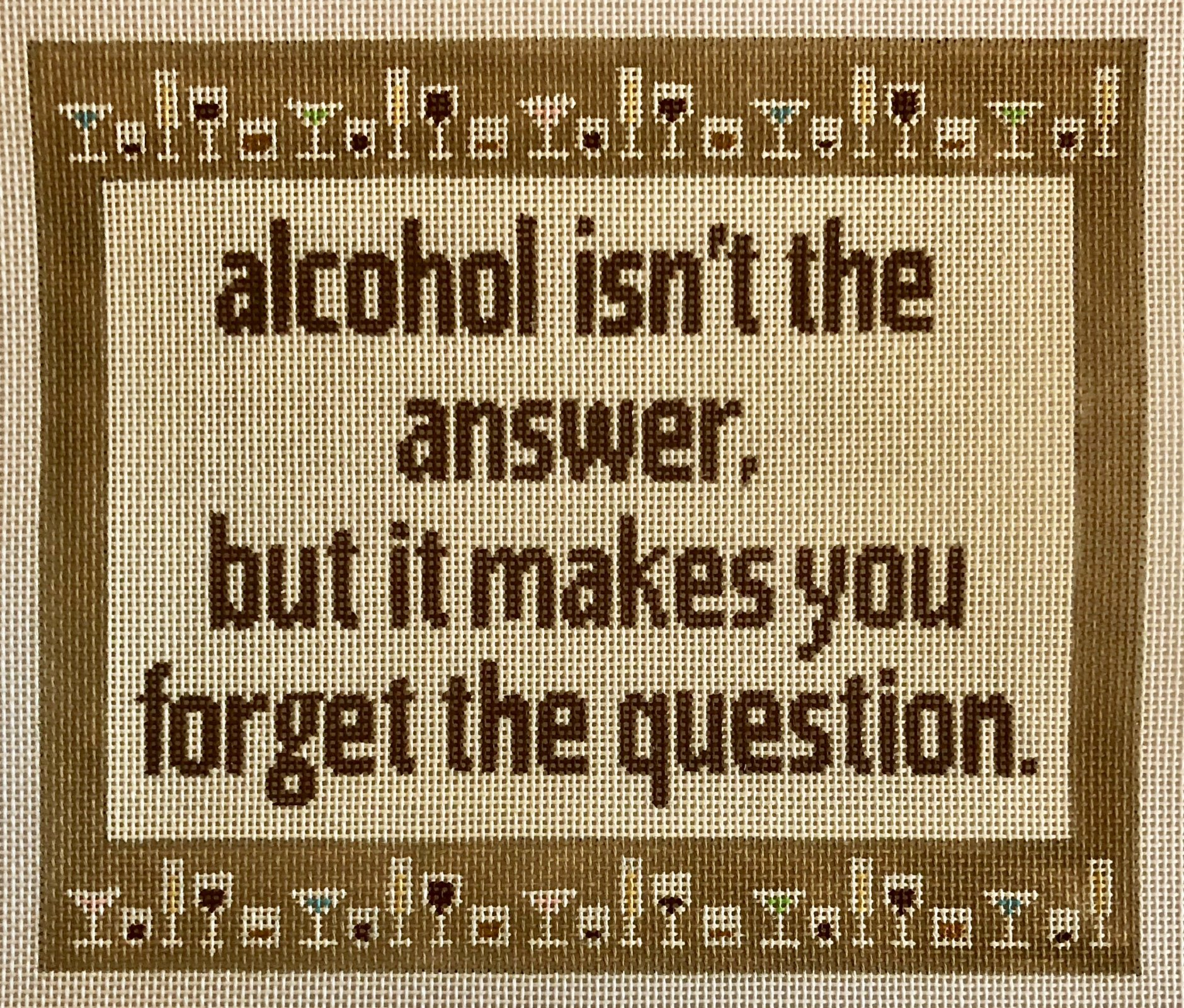 alcohol isn't the answer...
