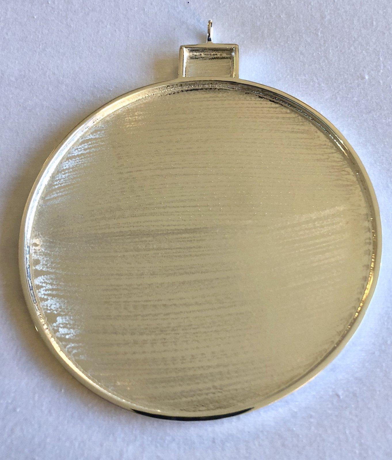 4 silver plate ornament