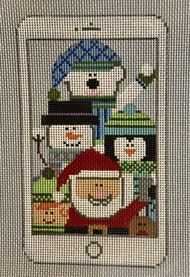 santa selfie w stitch guide
