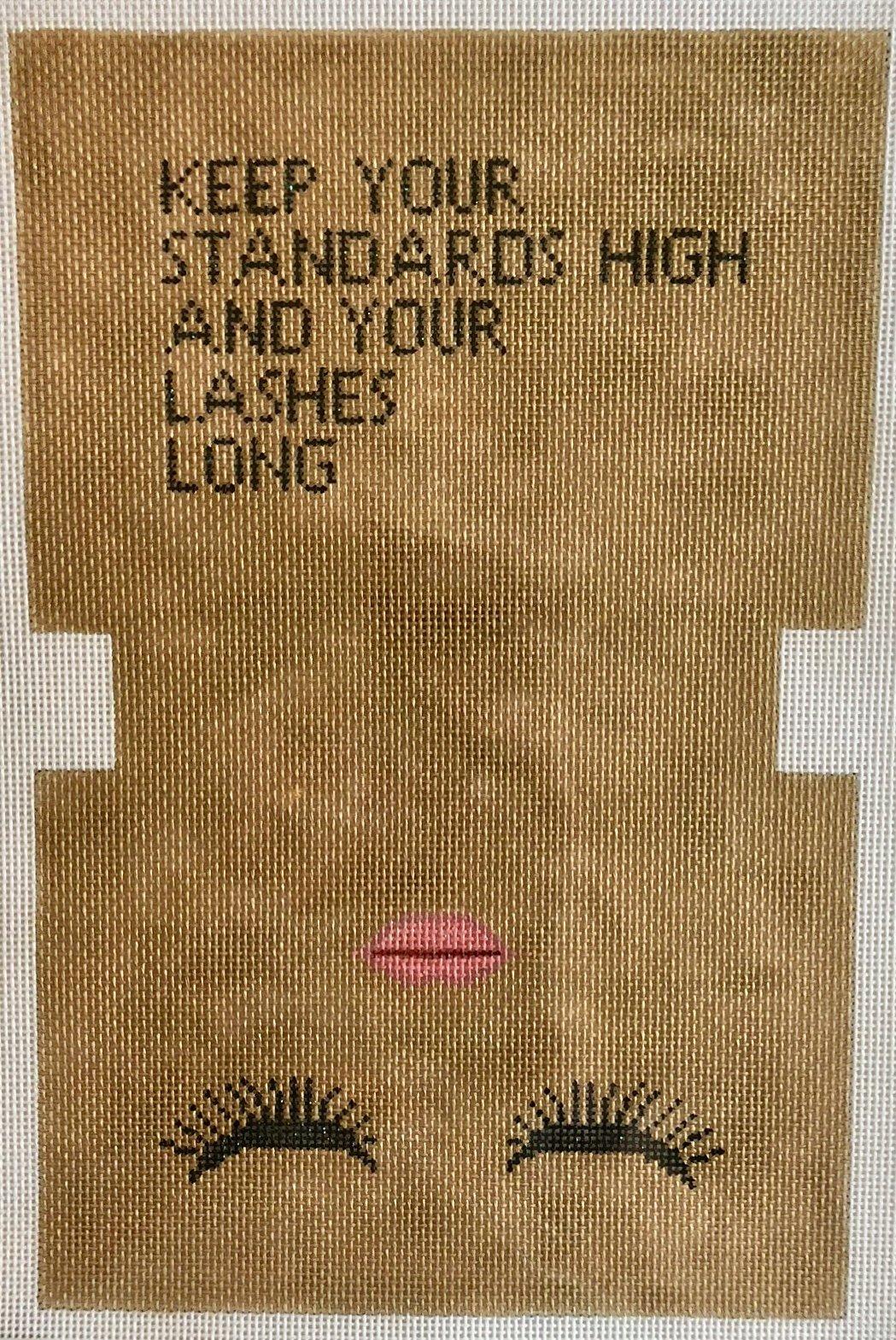 high standards makeup bag