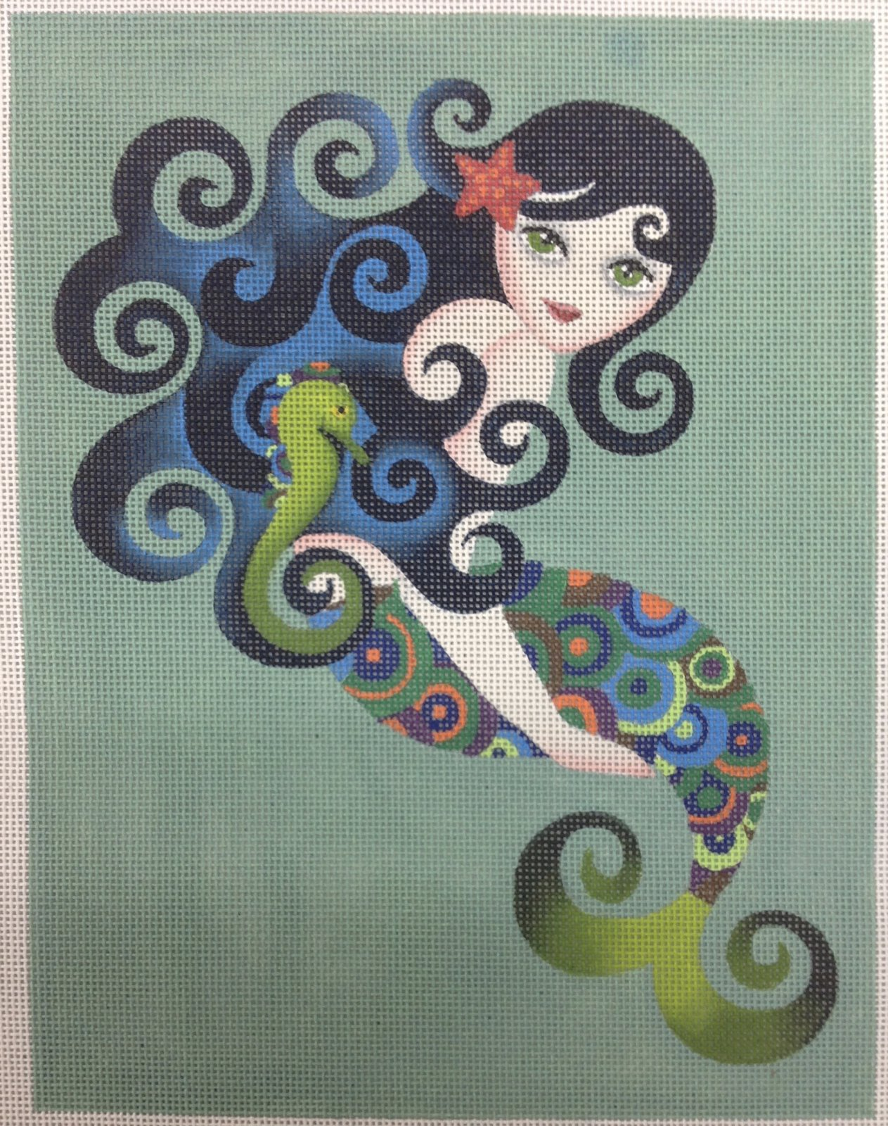 aquamarine mermaid w stitch guide