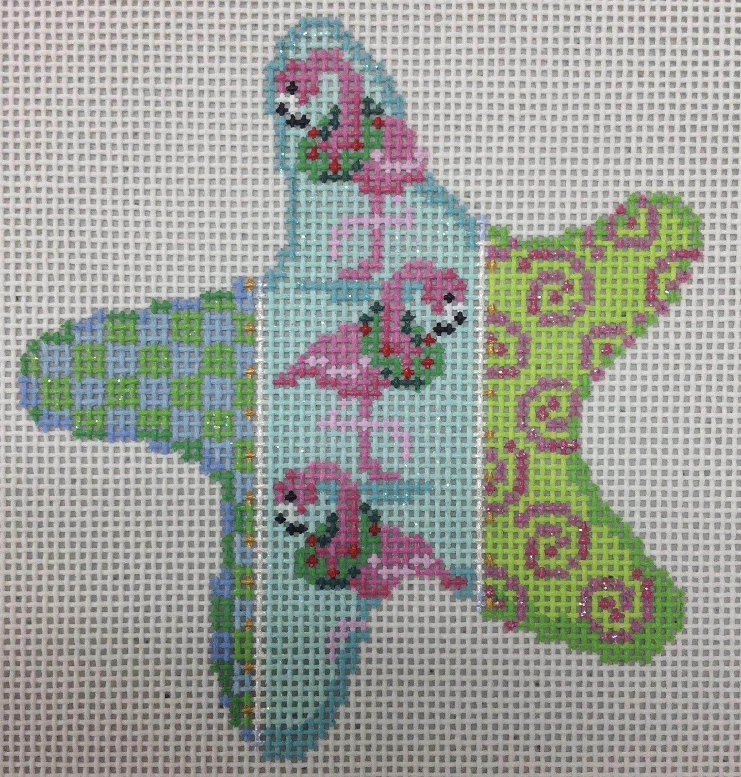 checks-flamingo starfish