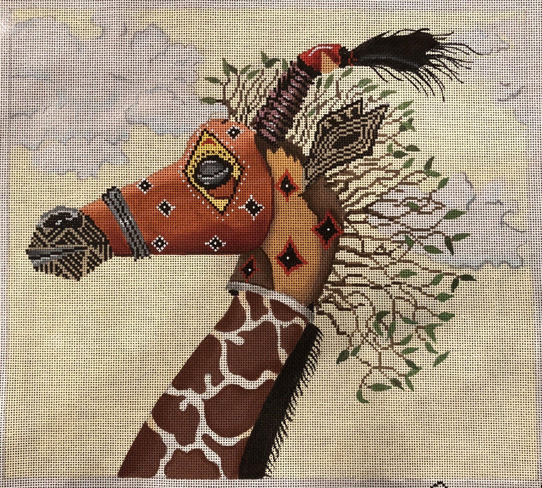 tribal mask giraffe