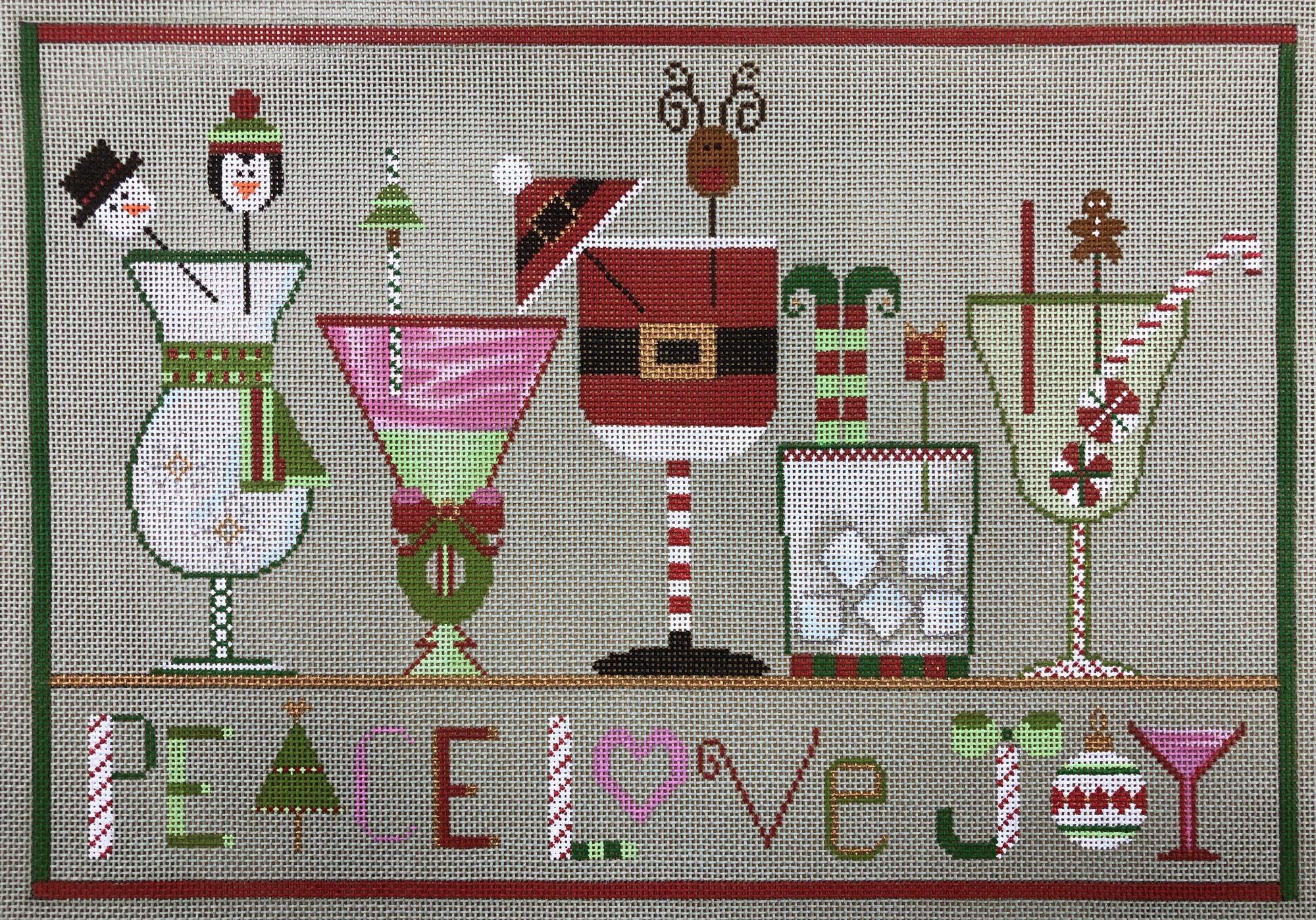 christmas cheers w stitch guide, bead & embellishment kit