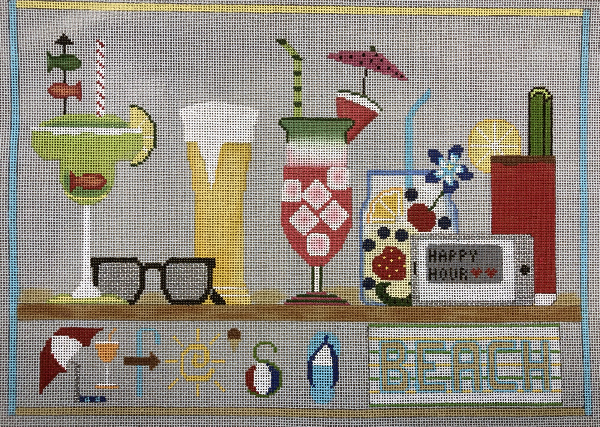 life's a beach w stitch guide & embellishment kit