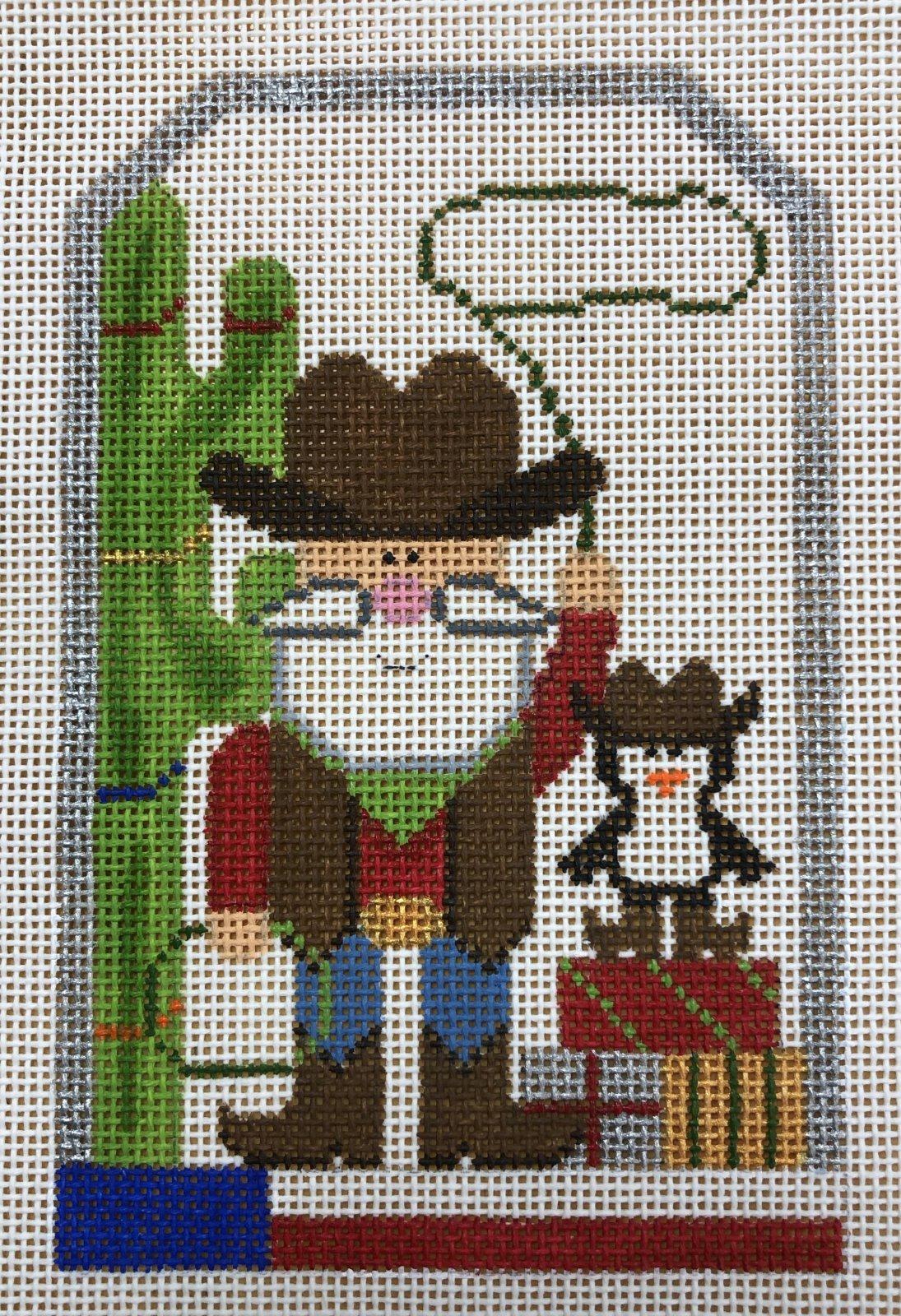santa cowboy tag w stitch guide