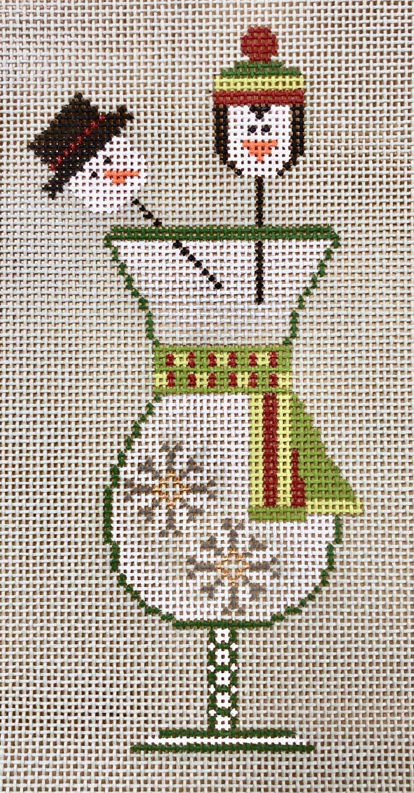 snowflake drink w stitch guide & embellishment kit
