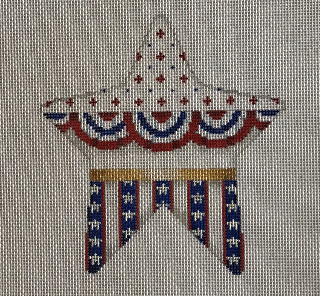 bunting & stripes star, large