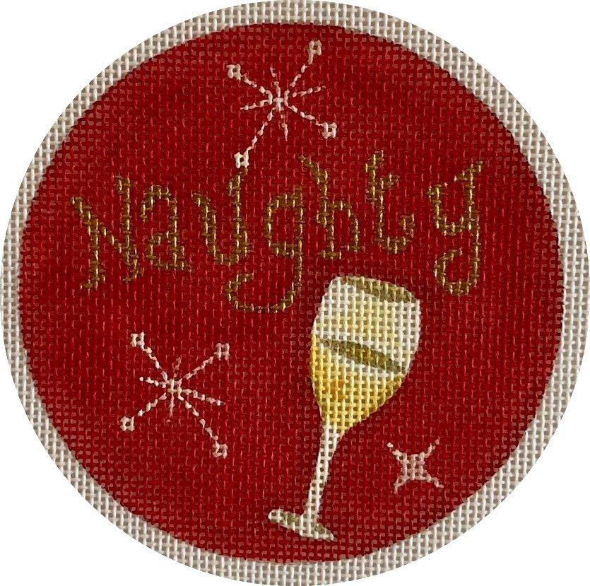 naughty, wine ornament