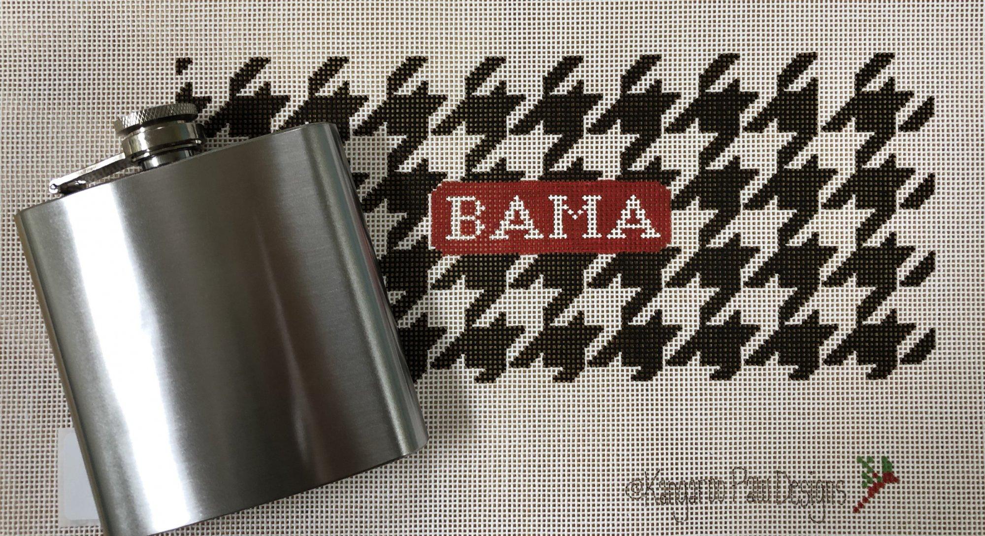bama houndstooth & flask