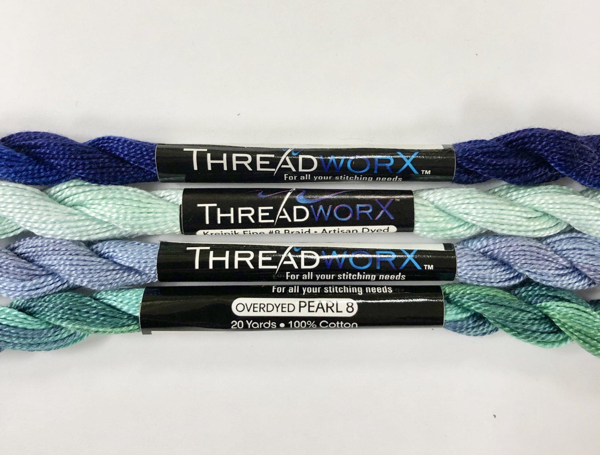 threadworX overdyed pearl cotton #8