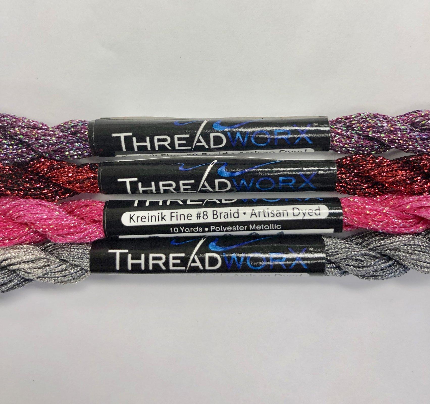 threadworX overdyed kreinik #8