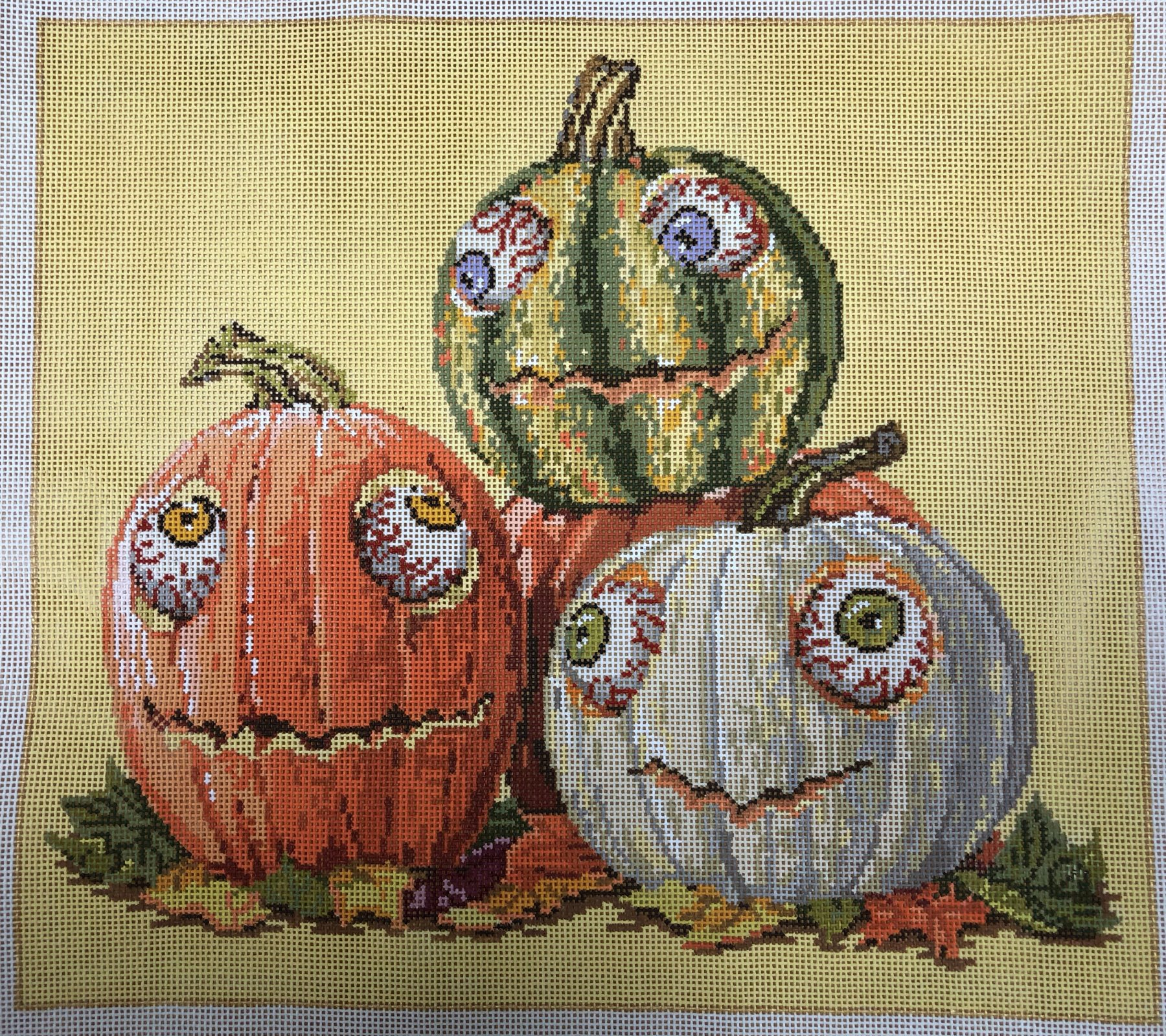 googly eyes pumpkins